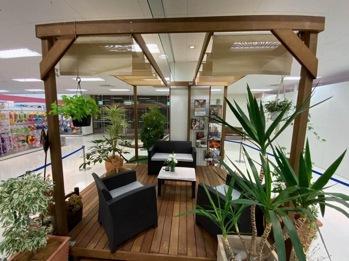 成田市公津の杜・ユアエルムショッピングモール1F ガーデンアップミント展示場